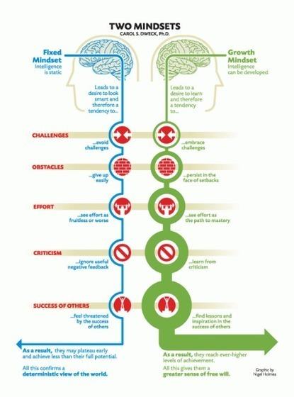 Growth Mindset versus Fixed Mindset: infografiek | Master Leren & Innoveren | Scoop.it
