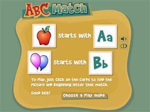 ABC Match | Early Learners Online Literacy Activities | Scoop.it