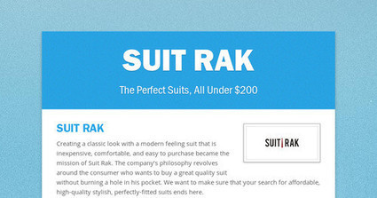 SUIT RAK | Men Tailored Suits | Scoop.it