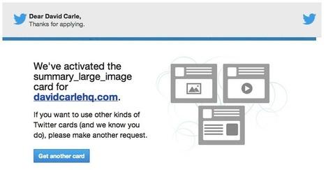 Guide : Comment configurer les Twitter Cards sous WordPress - Blogue SEO, PPC et Marketing Internet | David Carle HQ | Wordpress | Scoop.it