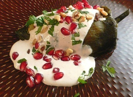 Vegetarian Recipes for Christmas - Stuffed Chiles with Walnut Sauce   Christmas   Scoop.it