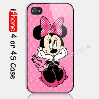 Disney Minnie Mouse Pink Custom iPhone 4 or 4S Case | Merchanstore - Accessories on ArtFire | Custom iPhone 4 or 4S Case Cover | Scoop.it