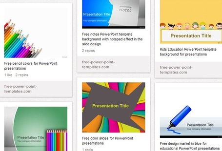 Education PowerPoint Templates - free download | classroom tech for students and teachers | Scoop.it