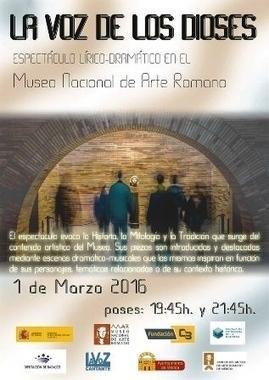 'La voz de los Dioses' evocará la historia y la mitología en el Museo de Arte Romano de Mérida | LVDVS CHIRONIS 3.0 | Scoop.it