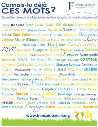 Des milliers de mots anglais proviennent du français. Poster   Francais pour le college   Scoop.it