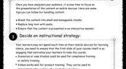 4 Tips for Designing the Mobile Compatible Courses – Infographic | Learning Technology, Pedagogy and Research | Scoop.it