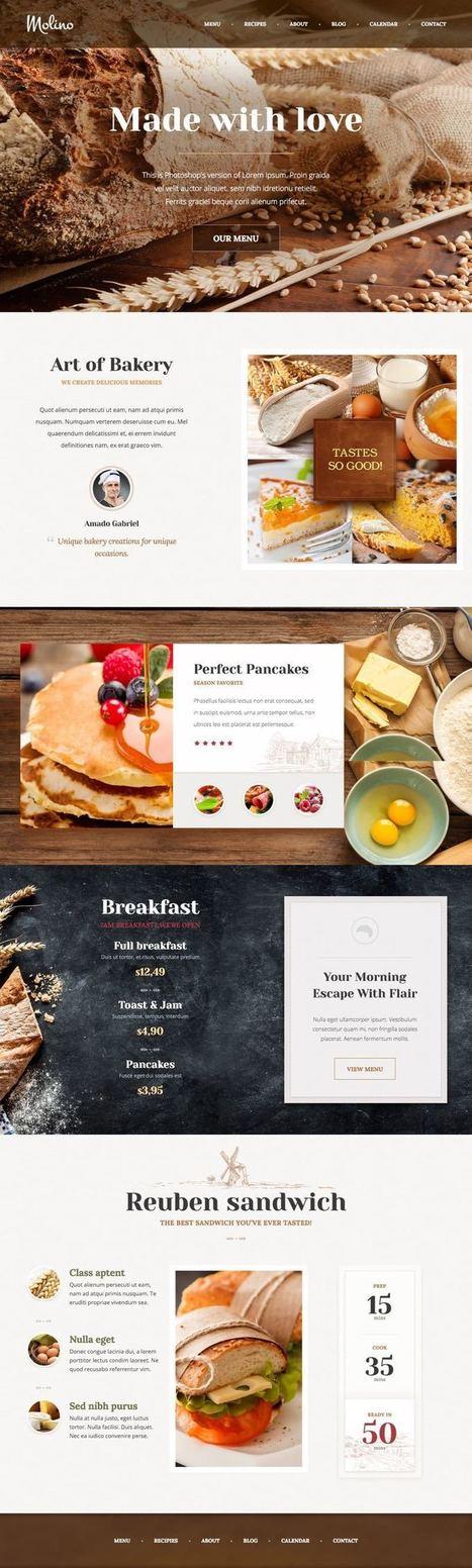 Molino WordPress Food, Bakery & Pastry Shop Theme   Free Premium WordPress Themes   Scoop.it