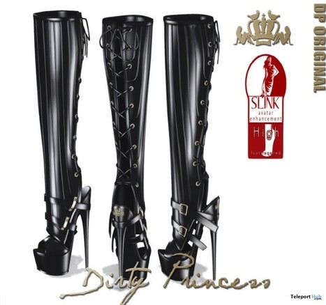 Black Boots For Slink High Feet Group Gift by Dirty Princess | Teleport Hub - Second Life Freebies | Second Life Freebies | Scoop.it