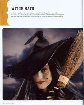 Craftside: How to draw a pattern for a witch hat and how to make a tiny witch hat head band | Halloween & Spooky Fun Stuff~ | Scoop.it