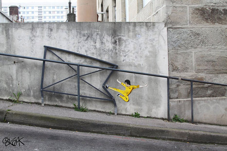 OakOak Street Art artist That Plays with his surroundings | SILLY STREET | Scoop.it