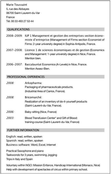 Réussir son CV en anglais pour obtenir un stage ou un job - Letudiant.fr   qareerup   Scoop.it