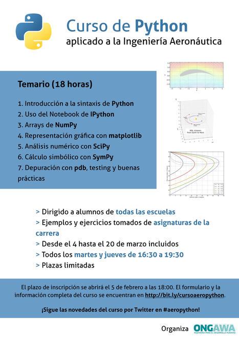 Curso de Python en la ETSI Aeronáutica y del Espacio de Madrid | Python-es | Scoop.it
