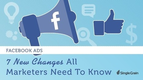 Facebook Ads: 7 New Changes All Marketers Need to Know - Single Grain | Tools, Tips, & Techniques for the Beginner Internet Marketer | Scoop.it