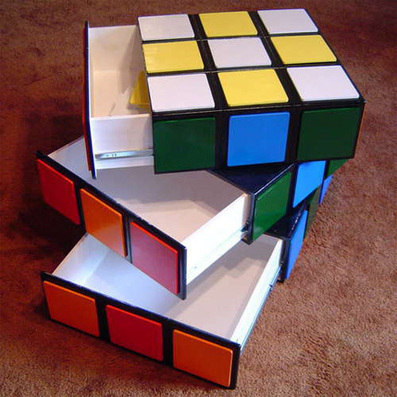Giant-Sized Rubik's Cube Drawers Spin on a Central Axis | All Geeks | Scoop.it