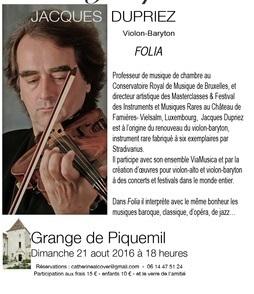 Dimanche 21 août, à Monflanquin : Spectacle de Jacques Duprez | Vos Sorties en Coeur de Bastides | Scoop.it