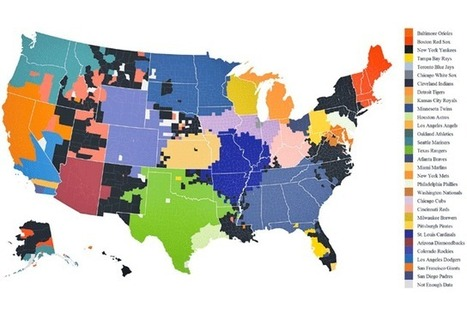 The Most Popular Baseball Team by County | Geography | Scoop.it