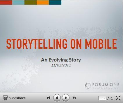 Mobile Storytelling: An Evolving Story | Mobile Storytelling | Scoop.it