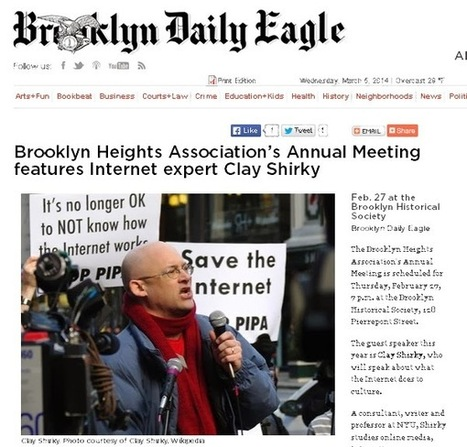 Noticing New York: Internet Guru Clay Shirky Speaking At Brooklyn Heights Association Annual Meeting Says We Need Libraries Because Of Holes In The Internet | Peer2Politics | Scoop.it
