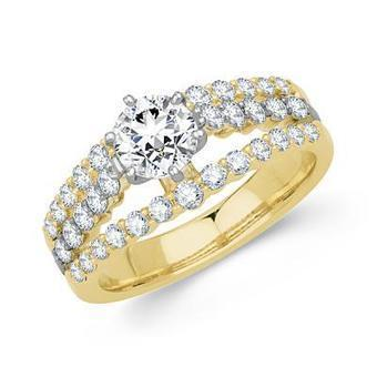 14k Two Tone Gold Round Diamond Engagement Ring | Diamond Engagement Ring | Scoop.it