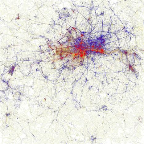 Cartes de villes par photographies de touristes ou d'habitants   La boite verte   cartography & mapping   Scoop.it