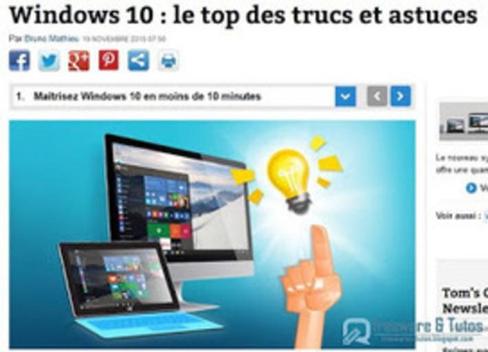 Le site du jour : les meilleures astuces pour Windows 10 ~ Freewares & Tutos | TIC et TICE mais... en français | Scoop.it