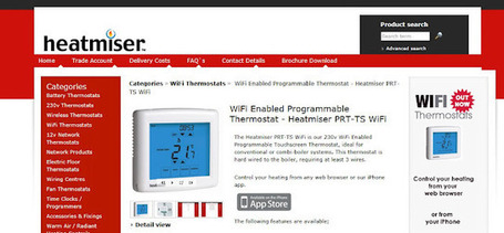 [domotique] Test: Thermostat Wifi Heatmiser, pour contrôler à distance son chauffage | IMMOBILIER 2013 | Scoop.it