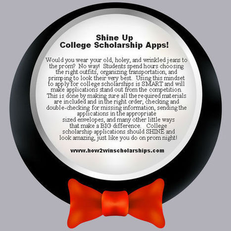 Shine Up College Scholarship Applications! | After High School | Scoop.it