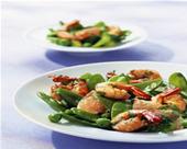 Recette cuisine fitness :Salade de pois gourmands aux crevettes | sport-et-regime.com | fitness et régime | Scoop.it