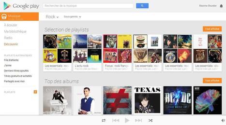 Google Play Music : Le nouveau concurrent de Deezer et Spotify débarque en France | toute l'info sur Google | Scoop.it
