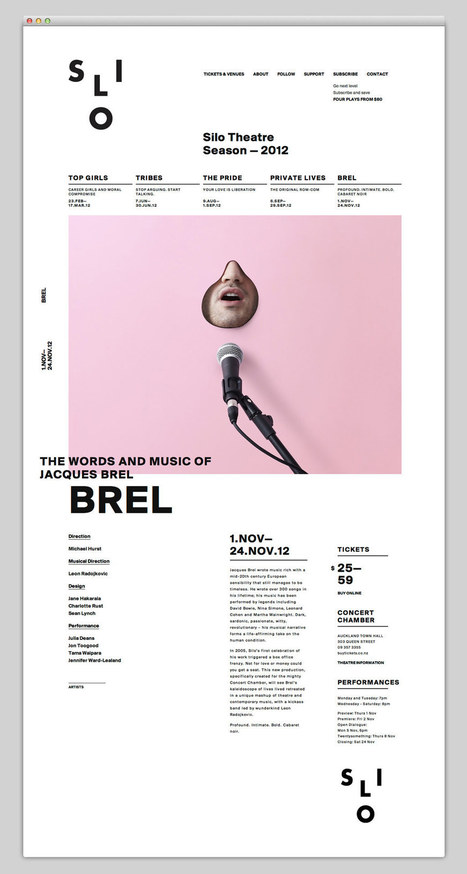 The Web Aesthetic — Silo Theatre | grafica net il meglio dal web | Scoop.it