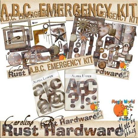 ABC Emergency Kit - Rust Pack - $5.99 : Caroline B., My Magic World of Digital Design | SCRAPBOOKING | Scoop.it