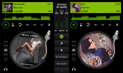 Steel wheels for Spotify as streaming music service gets iPad DJ app | Le son sur tablettes | Scoop.it