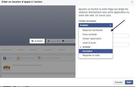 Ajouter un bouton d'appel à l'action (CTA) sur sa page Facebook | Inter Net'attitude | Scoop.it