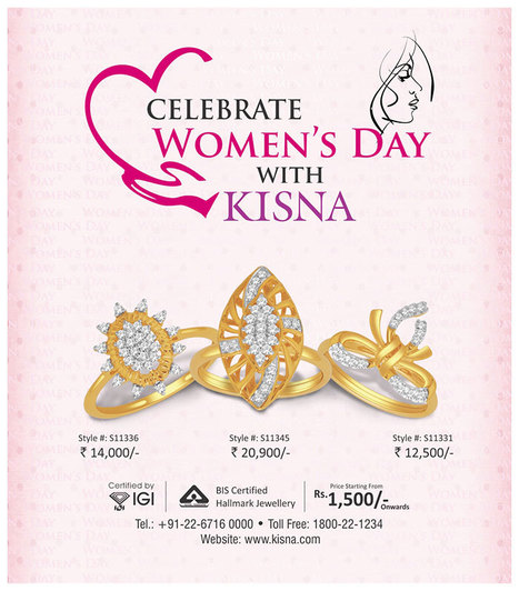 Celebrate Women's Day With Kisna Diamond Jewellery<br/>www.kisna.com   Gold Diamond Jewellery Designs   Scoop.it