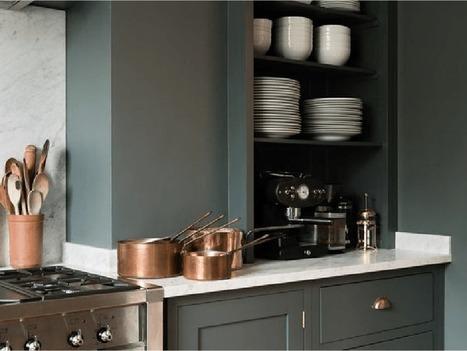 Pour ou contre ? Du vert foncé dans la cuisine… | décoration & déco | Scoop.it