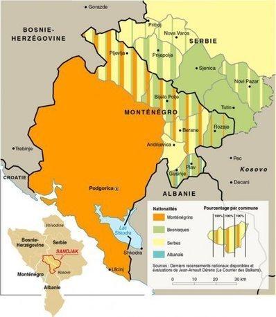 Carte : Populations croisées dans le Sandjak de Novi Pazar (Le Monde diplomatique)   Géographie des Balkans   Scoop.it