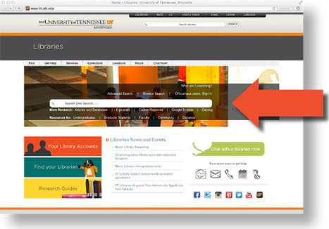 Libraries' One Search goes live: expect many, many more hits! - News and Events - Libraries - The University of Tennessee, Knoxville | Tennessee Libraries | Scoop.it
