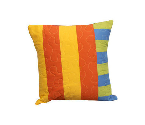 Modern Patchwork Decorative Throw Pillow - Simple Stripes in Spring Hues | Modern Home Decor - Quilts and Pillows | Scoop.it