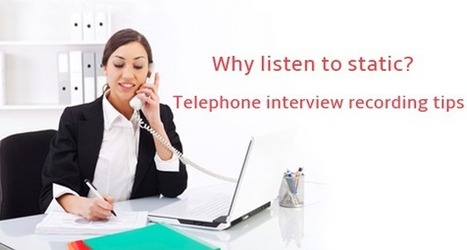 We will show you how to record perfect telephone interviews! | Audio recording apps | Scoop.it