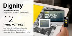 Free DIGNITY  - One Page Responsive Portfolio WordPress Theme ver 1.4 | Wordpress Themes | Scoop.it