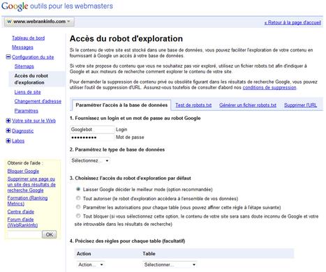 Comment indexer une base de données via Google Webmaster Tools | Time to Learn | Scoop.it