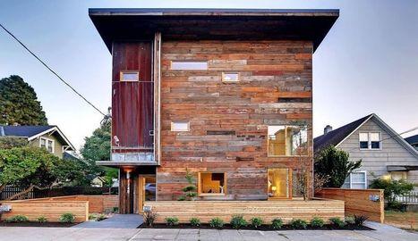 Faire une maison contemporaine avec des matériaux recyclés, à Seattle | Maison ossature bois écologique | Scoop.it