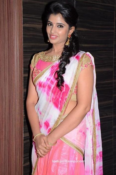 Actress Shyamala Pictures in Pink Half Saree at Jyothi Lakshmi Audio Launch, Actress, Tollywood   Indian Fashion Updates   Scoop.it