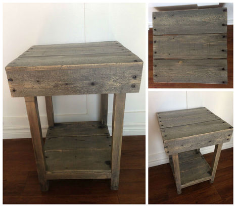Custom Made Pallet Side Table | diy projects | Scoop.it