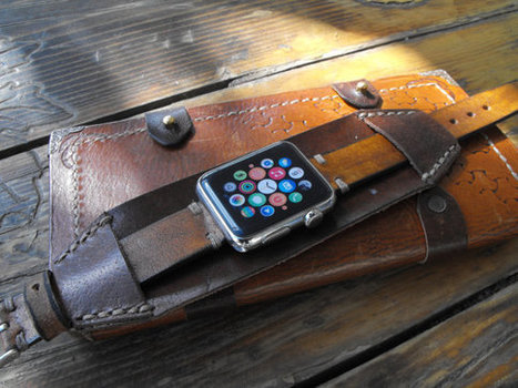 Apple cuff strap, iwatch cuff strap, leather cuff strap, mens apple band | Great Gift Ideas | Scoop.it