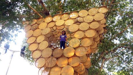budi pradono architects weaves treehouse with bamboo modules - designboom | architecture & design magazine | parametric design | Scoop.it