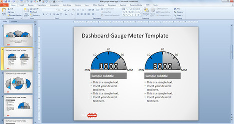 Free Dashboard Gauges for PowerPoint - Free PowerPoint Templates - SlideHunter.com | Observations | Scoop.it