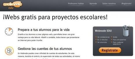 webnode EDU – Páginas web gratis para proyectos escolares, en español | EducationLovesICT | Scoop.it