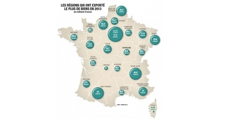 Voici la carte des régions françaises qui exportent le plus - Challenges | Autour du vin | Scoop.it