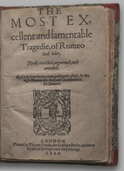 Romeo and Juliet, Quarto 2 (George III), page 1 :: Facsimile Viewer :: Internet Shakespeare Editions | Diseño y tipografía | Scoop.it